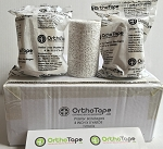 OrthoTape Plaster Bandages 4 Inch X 5 Yrds (12-ROLLS)